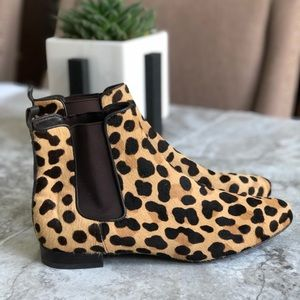 Tory Burch • Leopard Print Orsay Ankle Booties